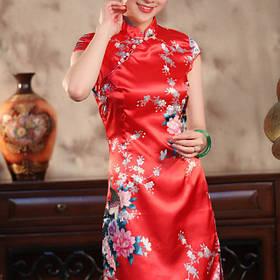 Атлас ткань для платья в китайском стиле