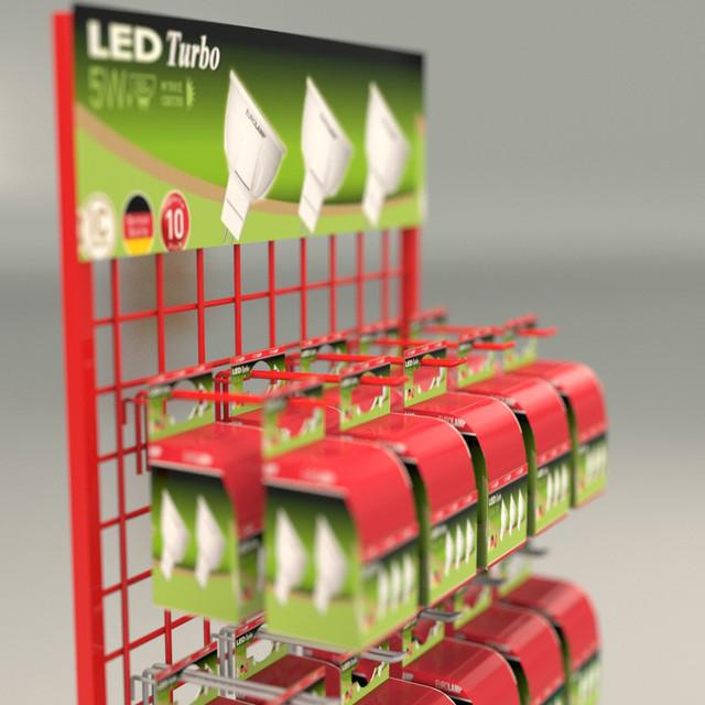 Стойки металлические торговые для ламп