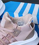 Женские кроссовки Adidas EQT Bask ADV W (Ash Pearl & White). Живое фото. Топ качество! (Реплика ААА+), фото 3