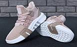 Женские кроссовки Adidas EQT Bask ADV W (Ash Pearl & White). Живое фото. Топ качество! (Реплика ААА+), фото 6