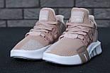 Женские кроссовки Adidas EQT Bask ADV W (Ash Pearl & White). Живое фото. Топ качество! (Реплика ААА+), фото 5