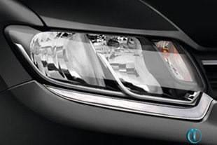 Накладки на фары (2 шт, нерж) - Dacia Logan III 2013+ гг.
