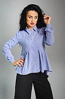 Стильна жіноча сорочка в смужку розмір:42,44,46,48
