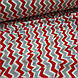 Ткань польская хлопковая, зигзаг красно-серый на белом, фото 4