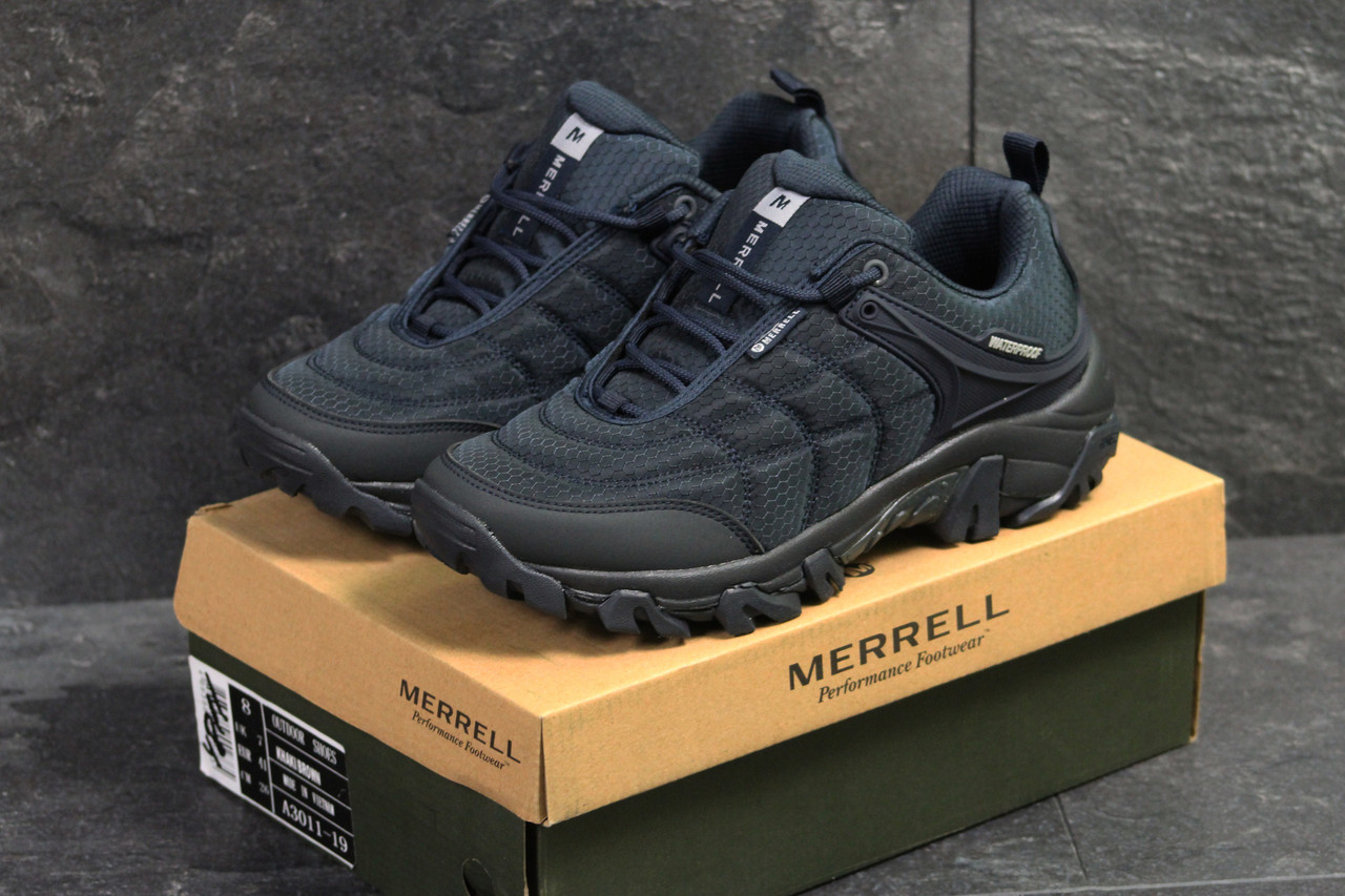 Осенние синие мужские кроссовки Merrell - мерелли   чоловічі кросівки (Топ  реплика ААА+) 51adf7650bc3a