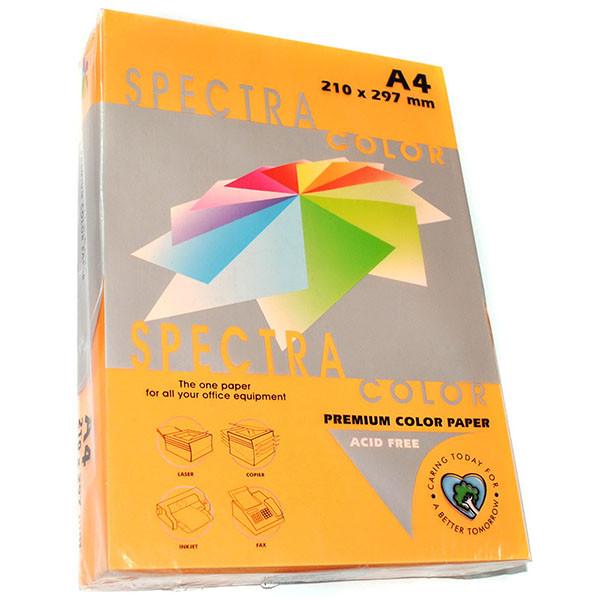 Бумага цветная А4, 75 г/м2 - Spectra Color IT 371 Cyber HP Orange, оранжевый неон 50 листов