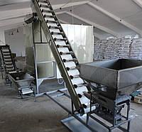 Конвейер (транспортер) подающий (загрузочный) ковшевой с бункером и вибродозатором