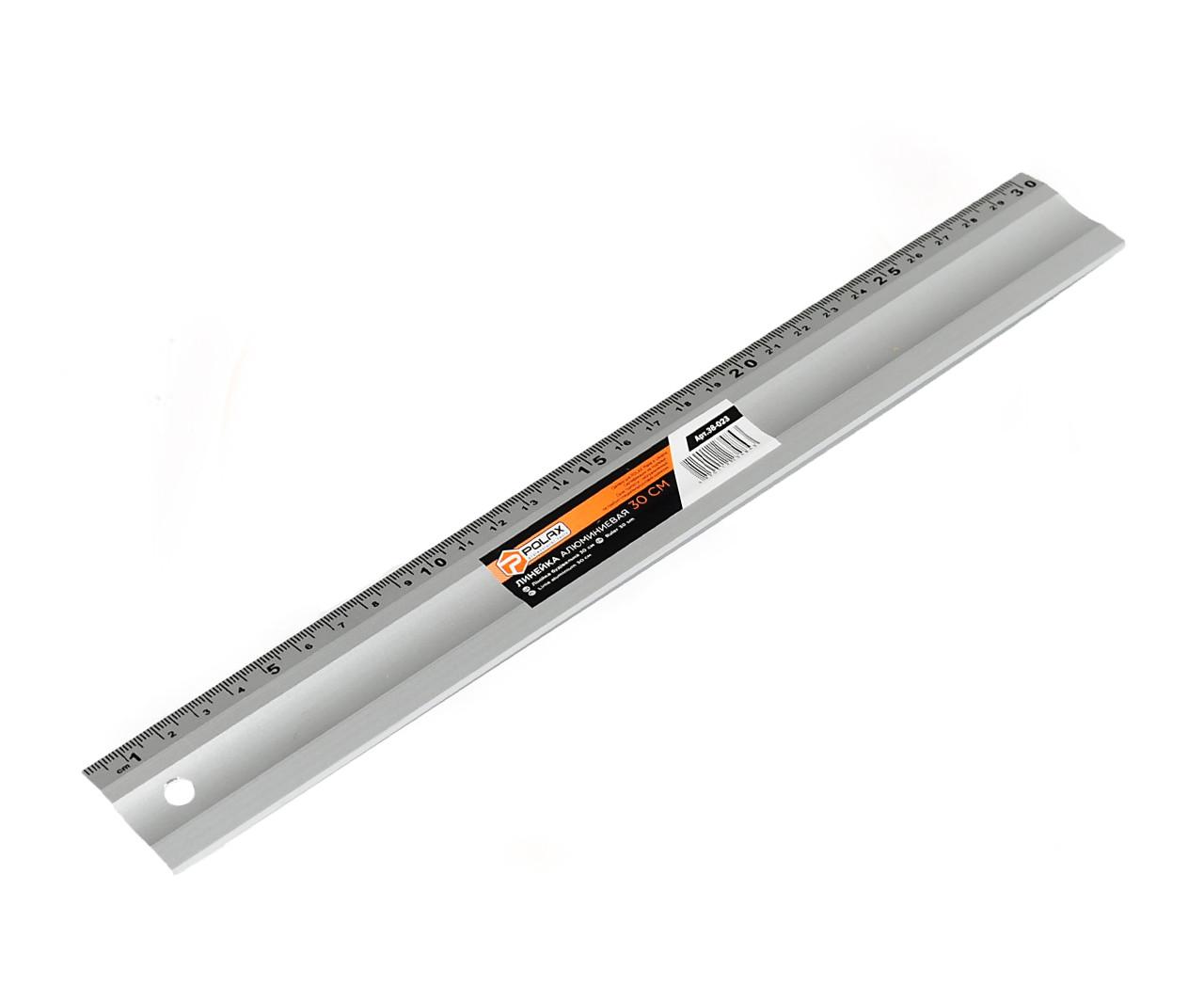 Линейка алюминиевая Polax 300 мм (38-023) 1 шкала