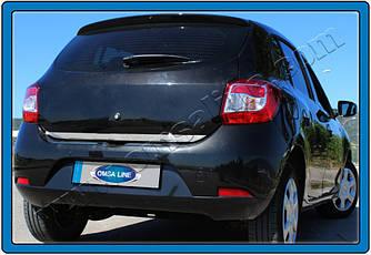 Накладка на кромку багажника (нерж.) - Dacia Sandero 2013+ гг.