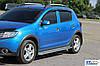 Боковые площадки KB001 (нерж) - Dacia Sandero 2013+ гг., фото 2