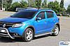 Боковые площадки KB001 (нерж) - Dacia Sandero 2013+ гг., фото 4