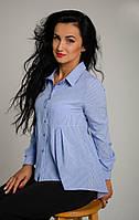 Молодіжна ділова блуза сорочкового типу розмір:42,44,46,48