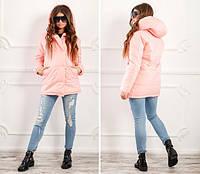 Женская теплая куртка с капюшоном  ДИ0180, фото 1