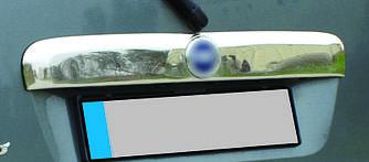 Накладка над номером (нерж.) - Fiat Doblo I 2001-2005 гг.