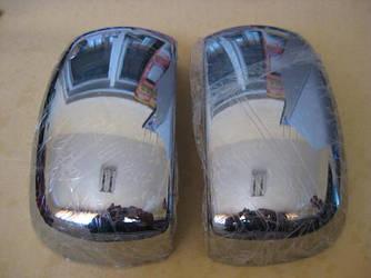 Накладка на зеркала (2 шт, пласт) - Fiat Doblo I 2001-2005 гг.