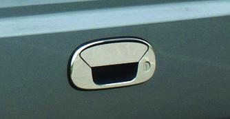 Накладка на заднюю ручку (нерж.) - Fiat Doblo I 2001-2005 гг.
