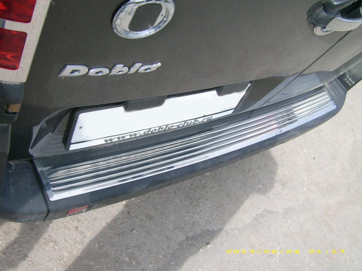 Накладки на задний бампер OmsaLine (нерж.) - Fiat Doblo I 2001-2005 гг.