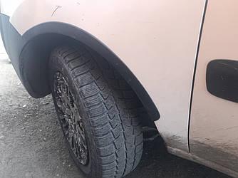 Накладки на арки (4 шт, черные) - Fiat Doblo I 2001-2005 гг.