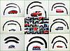 Накладки на арки (4 шт, черные) - Fiat Doblo I 2001-2005 гг., фото 2
