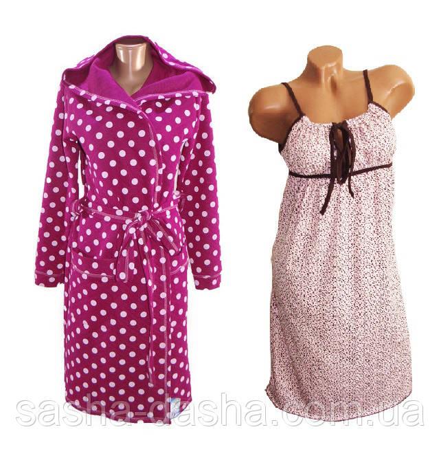Халат и ночная сорочка в роддом и для дома для кормления.   продажа ... 1685b15fe18fc