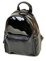 Рюкзак женский лаковый черный М 124 Z-ka/лак, фото 1