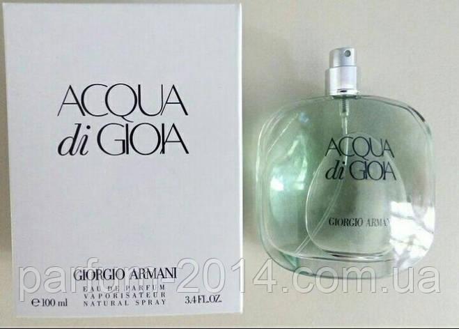 Женская парфюмированная вода Armani Acqua di Gioia tester (реплика), фото 2
