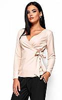 (S, M, L) Вишукана кремова блузка на зав'язці Sabrina