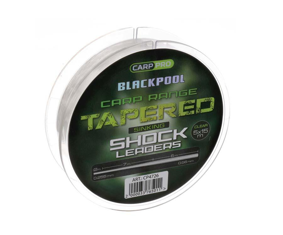 Шок-лидер Carp Pro Blackpool Sink Tapered Mono 0.255-0.56 мм, 5х15 м
