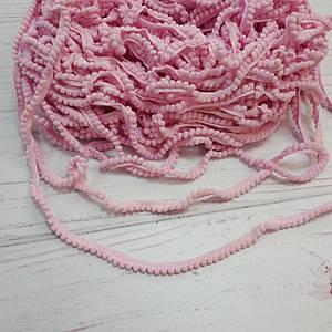 Тесьма с помпонами розовая (5 мм)
