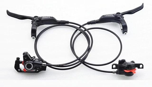 Дисковые тормоза Shimano BR-M355 + BL-M355, черные (комплект)