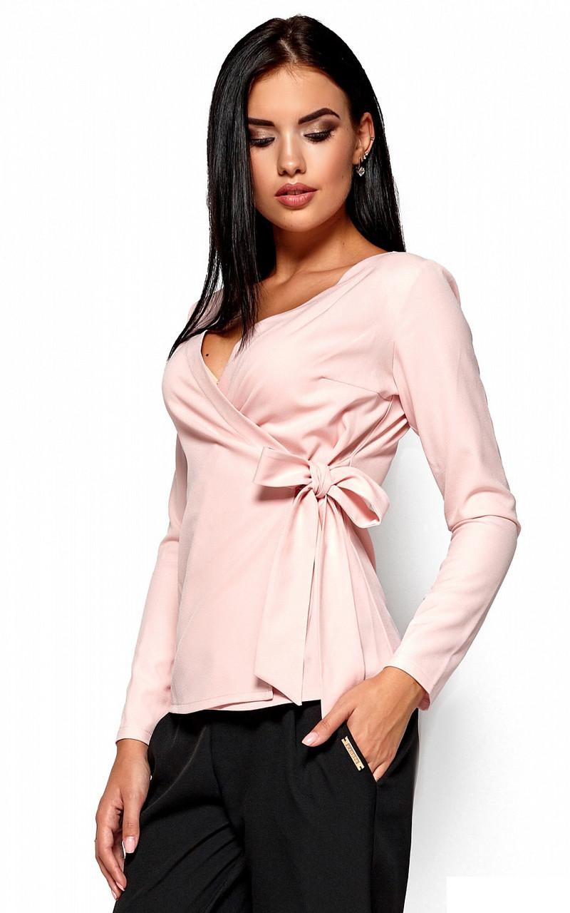 (S / 42-44) Вишукана персикова блузка на зав'язці Sabrina