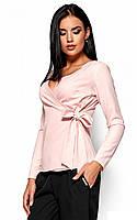 (S, M, L) Вишукана персикова блузка на зав'язці Sabrina