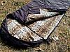 Спальный мешок на флисе,  мех, спальник туристический для похода, для холодной погоды!, фото 2
