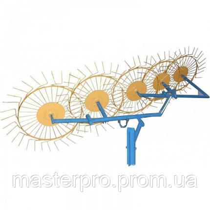 Грабли-ворошилки 5-ти колесные (Солнышко) толщина граблинной проволоки 5,0 мм AGROMARKA, фото 2