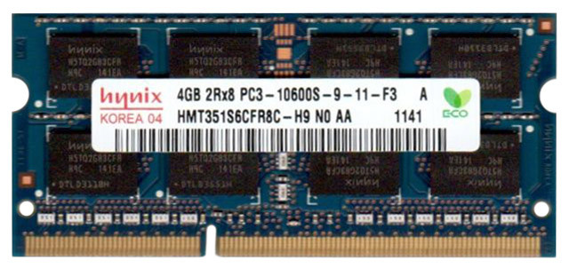 "Оперативная память Hynix HMT351S6CFR8C-H9 N0 AA DDR3/4GB/1333MHz/SO-DIMM ""Over-Stock"""