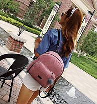 Большой вельветовый рюкзак с помпоном, фото 3