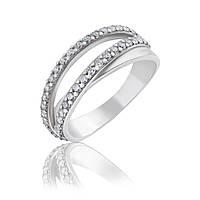 Двойное серебряное кольцо