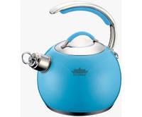 Чайник со свистком 3,0 л. PETERHOF PH 15553 blue, фото 1