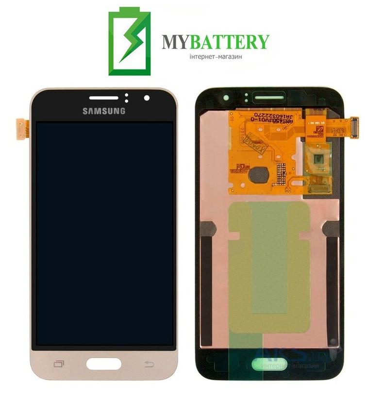 Дисплей (LCD) Samsung J120H Galaxy J1 (2016) TFT с сенсором золотой
