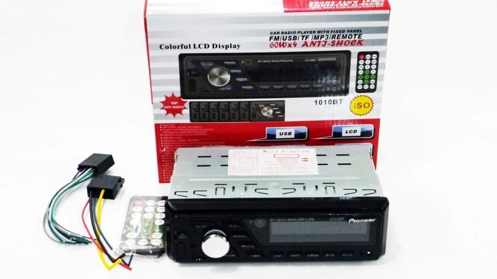 Бюджетная автомагнитола Pioneer 1010BT Bluetooth ISO RGB подсветка Высокое качество популярная