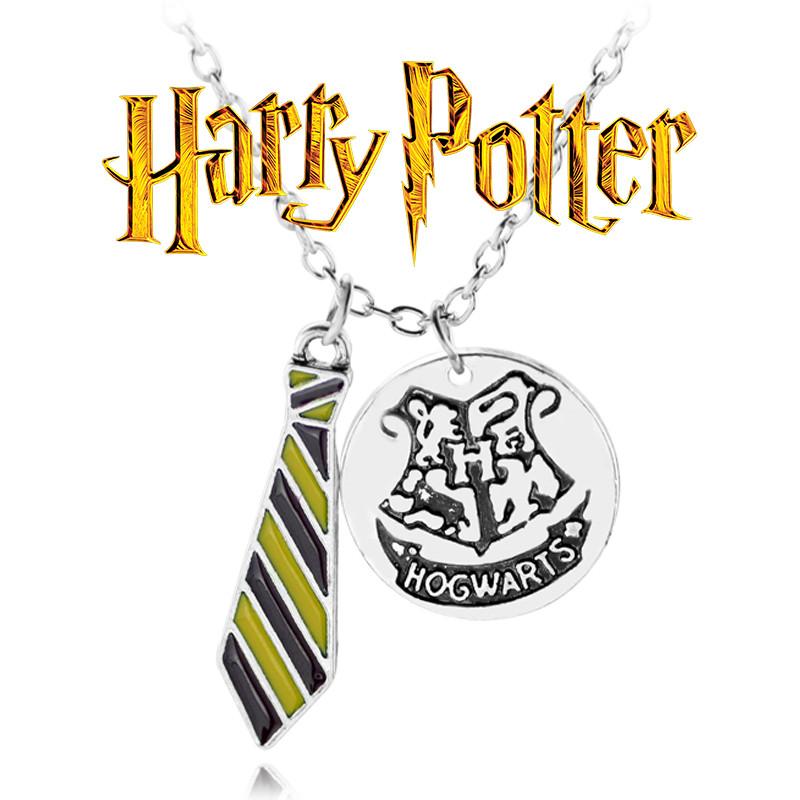 Кулон галстук Хогвартс красно-желтый из Гарри Поттера Harry Potter