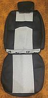 Чехлы на весь салон плотные Автосвит NEW, черно- серые автоткань+поролон (ВАЗ, Lanos,Aveo, Logan, Duster и др)