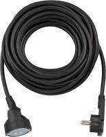 Удлинитель переноска 10 метров; H05VV-F3G1,5; черный, фото 1