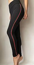 Модные женские лосины № 058 Ч (НА ФЛИСЕ) батал, фото 3