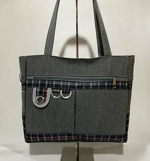 Милые тканевые сумки шоппер в клетку, фото 2