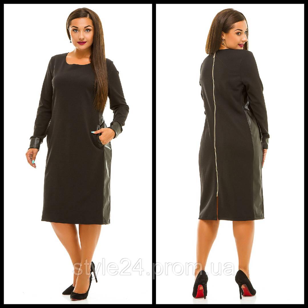 Батальне плаття з вставками шкіри.Р-ри 50-56  продажа 73ff922edf25d
