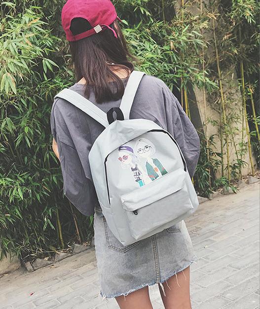 Милые тканевые рюкзаки с принтом девочек