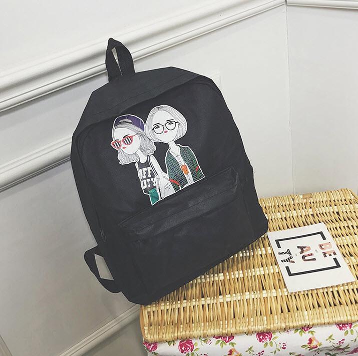 Милые Тканевые Рюкзаки с Принтом Девочек — в Категории