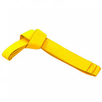 Пояс для кимоно Matsa 0040-260-1 желтый 2,6м; 2,8м; 3,0м