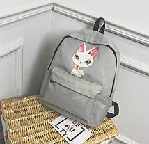 Милые тканевые рюкзаки с принтом ушастого кота, фото 3